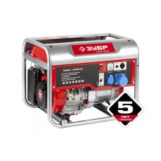 Бензиновый генератор ЗУБР ЗЭСБ-6200, 4-х тактный, ручной пуск, 4500/4000Вт, 220/12В