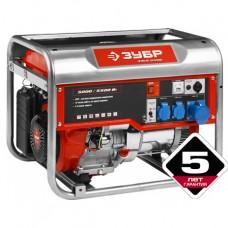 Бензиновый генератор ЗУБР, 4-х тактный, ручной и электрический пуск, ЗЭСБ-5500Э