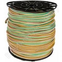 Полипропиленовая вязаная веревка цветная 8мм 250м
