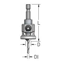 Зенкер для террасной доски WPW AQP3004SC коническая БЕЗ ЦАРАПИН D9,5мм сверло 3 мм